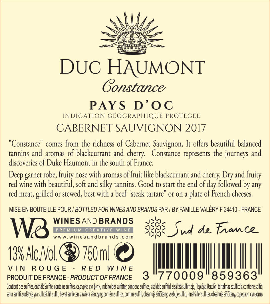 Collection Duc Haumont - Cuvée Constance