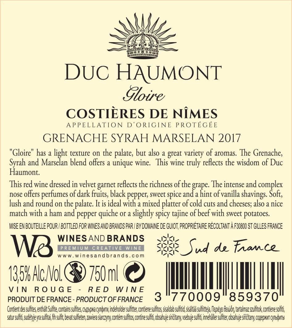 Collection Duc Haumont - Cuvée Gloire