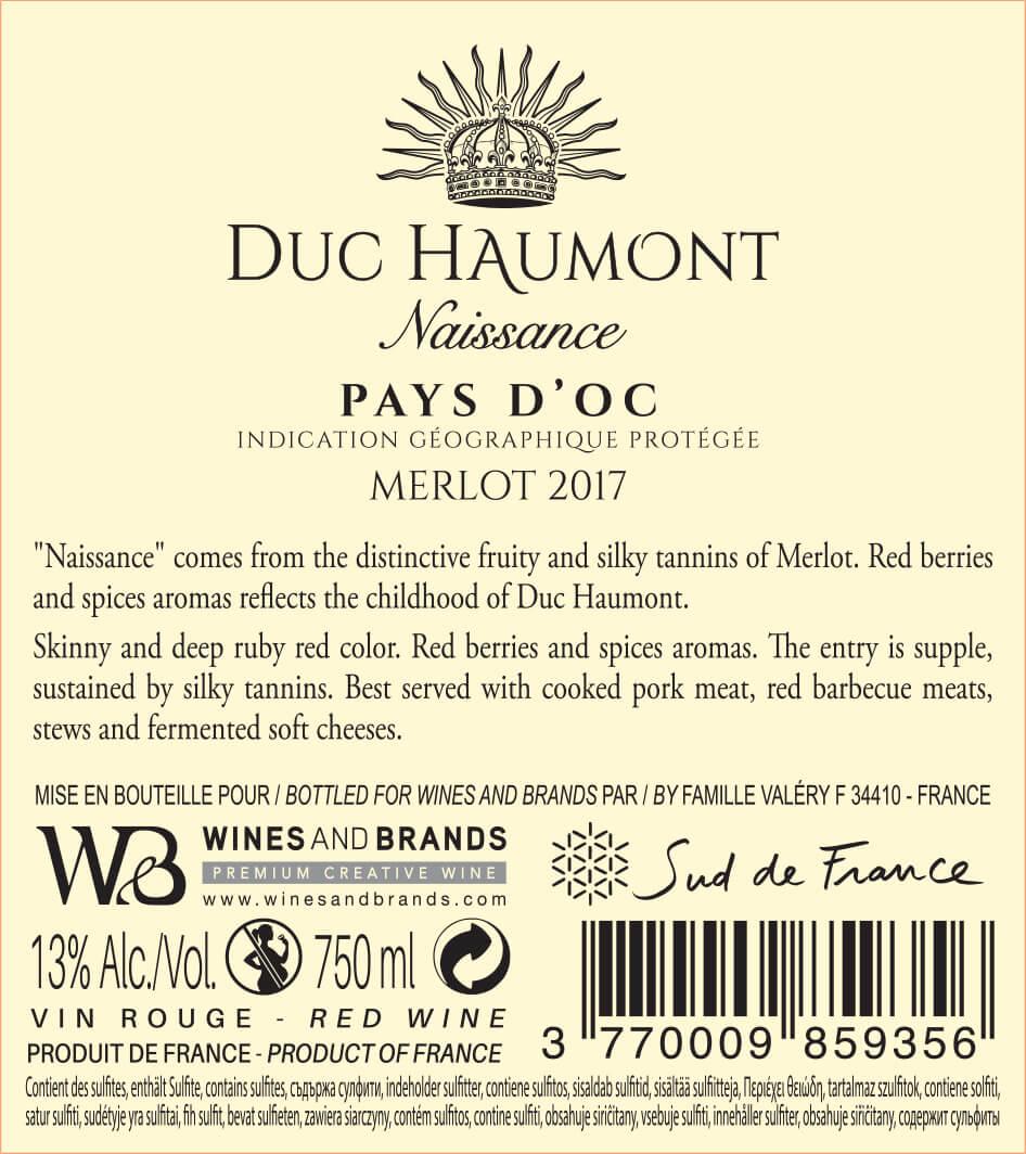 Collection Duc Haumont - Cuvée Naissance