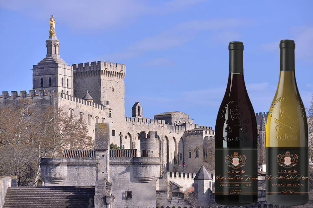 The Grand Pope wine Collection co-branded with The Pope's Palace in Avignon
