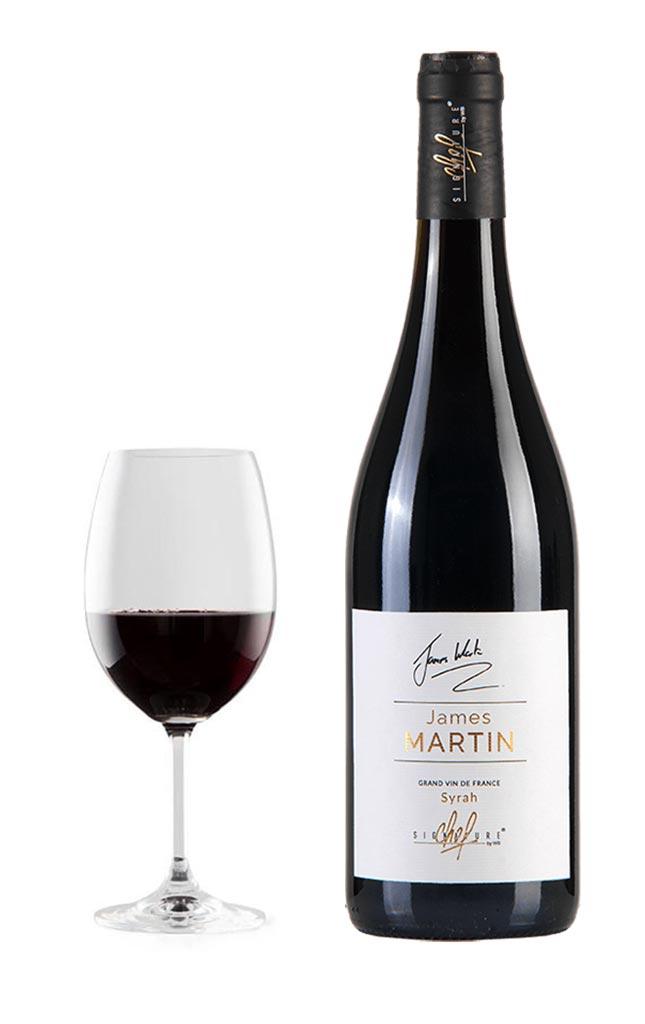 Cuvée James Martin, dégustation vin rouge syrah